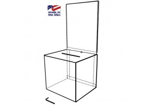 WHITE Ballot Box with Riser