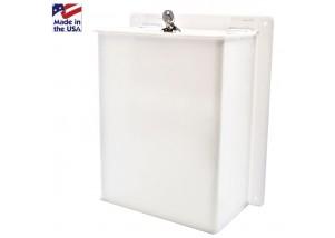 WHITE Wall Mount Ballot Box