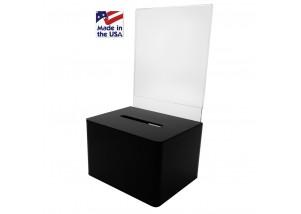 Small BLACK Ballot Box