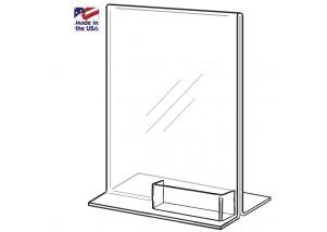 Bottom Loading Ad Frame with Biz Card Pocket