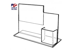 Acrylic Counter Sign Holder with Pocket