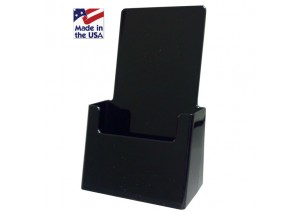 Black Trifold Brochure Holder