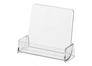 Clear Card Holder with Tall Back