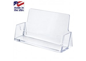 CLEAR Horizontal Business Card Holder