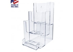 3 Tiered Brochure Holder with Biz Card Pocket