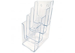 Clear 4 Tiered Brochure Holders