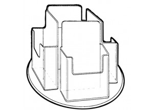 4 Pocket Rotating Holder